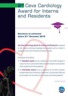 2012 Ceva Cardiology Award for Interns and Residents